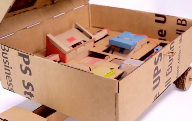 模仿任天堂 UPS竟用硬纸板打造拉杆箱